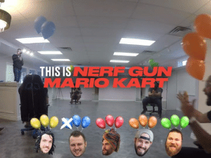 Dank, Friends, and Mario Kart: NERF GUN  THIS IS  MARIOKART So I need to find four friends to play 'Nerf Gun Mario Kart' with immediately 😂😂  Shonduras