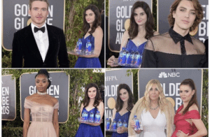 The Fiji water lady is the real winner of the Golden globes: NES  EBD The Fiji water lady is the real winner of the Golden globes