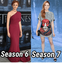 Memes, Dress, and Got7: NES  ueensinthe Nort  Season 6 Season 7 Which dress do you prefer? . . . gameofthrones sophieturner sansa sansastark stark Starks got got7 gots7 gotseason7 housestark winteriscoming thenorthremembers thequeeninthenorth queeninthenorth