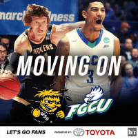 March Madness, Sports, and Ups: ness  marc  MOVING ON  LET's Go FANS  PRESENTED BY:  Gro  TOYOTA  br Wichita State and Florida Gulf Coast both win their First Four match ups to open March Madness!