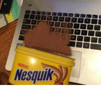 The longer you stare at it, the worse it becomes.: Nestle.  Nesquik The longer you stare at it, the worse it becomes.