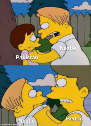 Meme, Reddit, and Pakistan: Nestle  Pakistan  Reddit  Nestle  made with mematic Original meme