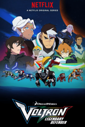 Netflix, News, and Target: NETFLIX  A NETFLIX ORIGINAL SERIES  DREAMWORKS  OLTRON  LEGENDARY  DEFENDER vld-news:  New Voltron poster from Netflix's promotional emails