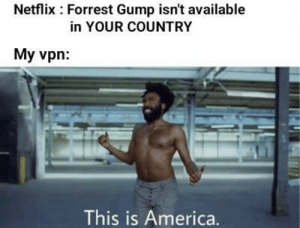 Meirl: Netflix Forrest Gump isn't available  in YOUR COUNTRY  My vpn  This is America. Meirl