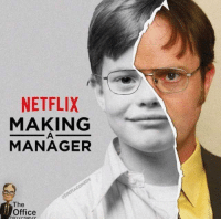 Dwight Schrute: NETFLIX  MAKING  MANAGER  The  Office