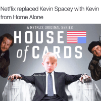 Home Alone: Netflix replaced Kevin Spacey with Kevin  from Home Alone  A NETFLIX ORIGINAL SERIES  HOUSE  of  DS  dead.friends
