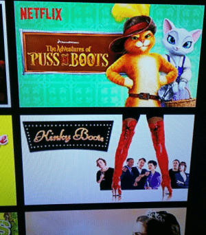 Netflix, Tumblr, and Blog: NETFLIX  The ndventures of  PUSS BOOTS tastefullyoffensive:  Puss in Kinky Boots