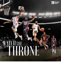 Sports, Bleacher Report, and Watch: NETS  12  THE  TI ROME  bleacher  report  NTESIA  13 Watch The Throne: @jharden13 is coming for the top spot. 🏀🏀