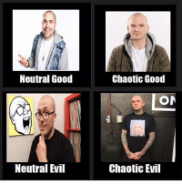 Chaotic Evil: Neutral Good  Chaotic Good  ON  Neutral Evil  Chaotic Evil
