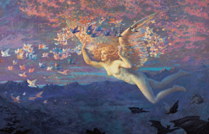 neutralfool:On the Wings of the Morning - Edward Robert Hughes: neutralfool:On the Wings of the Morning - Edward Robert Hughes