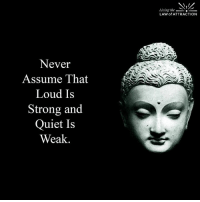 Never Judge....: Never  Assume That  Loud Is  Strong and  Quiet Is  Weak  Living the  LAW of ATTRACTION Never Judge....