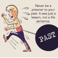 Memes, 🤖, and Stop: Never be a  prisoner to your  past. It was just a  lesson, not a life  sentence.  @BUSINESS MINDSET 101 Stop carrying with you dead weight. businessmindset101