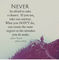 The definition of insanity is doing the same thing over and over again expecting a different result. Be curious and step into the unknown with courage. You've got this precious ones. ~ xoxo Barb   ❤️️ @power_wordz: NEVER  be afraid to take  a chance. If you are  take one anyway.  What you DON'T do,  can create the same  regrets as the mistakes  you do make The definition of insanity is doing the same thing over and over again expecting a different result. Be curious and step into the unknown with courage. You've got this precious ones. ~ xoxo Barb   ❤️️ @power_wordz