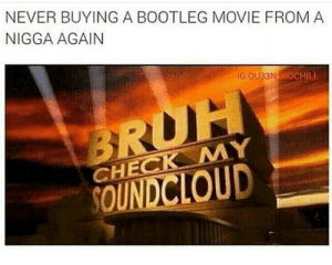 Bootleg, Chill, and Movie: NEVER BUYING A BOOTLEG MOVIE FROMA  NIGGA AGAIN  G QU33NN  CHILL  CHECK MY  UD meirl