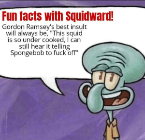 Never disagree with squidward: Never disagree with squidward