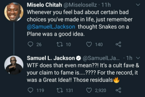 Never diss a choice Samuel L Jackson made: Never diss a choice Samuel L Jackson made