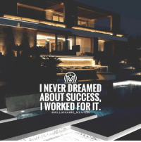 "Memes, Work, and Dreams: NEVER DREAMED  ABOUT SUCCESS.  MLIONAIRMENTOR  IWORKED FOR IT  GMILLIONAIRE_MENTOR Never dream about it more than what you work for it. 💯 Comment below ""work"" letter by letter BACKWARDS for a chance of a follow back!🔥 dreams work hustle millionairementor"