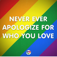 Lgbt, Love, and Memes: NEVER EVER  APOLOGIZE FOR  WHO YOU LOVE Never apologize for showing feeling. When you do so, you apologize for the truth. -Benjamin Disraeli LGBT LGBTUN rainbownation rainbow_nation_us LGBTPride LGBTSupport Homosexual GayPride Lesbian Gay Pansexual Polysexual GenderEquality LGBTI Questioning Agender GenderQueer Intersex Asexual Bisexual Androgyne GenderFluid Transgender LGBTQ LGBTCommunity LoveWins LoveIsLove