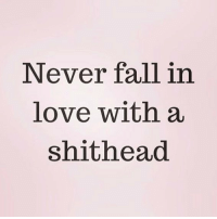 Advice, Fall, and Love: Never fall in  love with a  shithead Top notch advice. I'm prob still going to do it tho ( @scouse_ma )