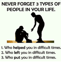Dekh Bhai, International, and Forgiveness: NEVER FORGET 3 TYPES OF  PEOPLE IN YOUR LIFE.  1. Who helped you in difficult times.  2. Who left you in difficult times.  3. Who put you in difficult times. Forgive but dont forget ✌🏻️