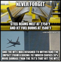 💭 Who do YOU think orchestrated 9-11? 💭🤔🤔🤔💭 Join Us: @TheFreeThoughtProject 💭 TheFreeThoughtProject JetFuelCantMeltSteelBeams Investigate911 💭 LIKE our Facebook page & Visit our website for more News and Information. Link in Bio.... 💭 www.TheFreeThoughtProject.com: NEVER FORGET  STEEL BEAMS MELTAT 2150°F  AND JET FUEL BURNSAT1500  THUFREETHOUCHTPROJECT coM  AND THE WTC WAS DESIGNED TO WITHSTANDTHE  IMPACT FROM ABOEING 107 WHICH CAUSES 10%  MORE DAMAGE THAN THE 767'S THAT HIT THEWTC 💭 Who do YOU think orchestrated 9-11? 💭🤔🤔🤔💭 Join Us: @TheFreeThoughtProject 💭 TheFreeThoughtProject JetFuelCantMeltSteelBeams Investigate911 💭 LIKE our Facebook page & Visit our website for more News and Information. Link in Bio.... 💭 www.TheFreeThoughtProject.com