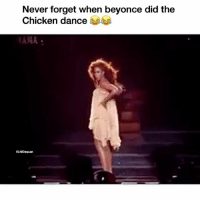 Beyonce, Funny, and Classics: Never forget when beyonce did the  Chicken dance  HAMA  IG:eDaquan Classic 😂😂😂