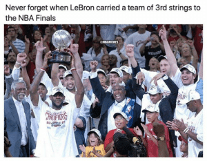 That 2006-07 Cavs team was something else 💪: Never forget when LeBron carried a team of 3rd strings to  the NBA Finals  NBAMEMES  TNESS  CHrneons  20:  07 That 2006-07 Cavs team was something else 💪