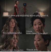 I hope You have had a good day 😘 Good night and sweet dreams😘😍😘 ~Julia (@greys.heart) •••• Who is your favorite bride ? •••• ellenpompeo meredithgrey cristinayang sandraoh greys greyscast greysabc greysanatomy wedding crowen mertina: never gave you any crap about your post-it.  I know.  You look beautiful  How's owen? Is he good?  Sandra on 701  Greys Heart  Owen's perfect. He's perfect. Thank you I hope You have had a good day 😘 Good night and sweet dreams😘😍😘 ~Julia (@greys.heart) •••• Who is your favorite bride ? •••• ellenpompeo meredithgrey cristinayang sandraoh greys greyscast greysabc greysanatomy wedding crowen mertina