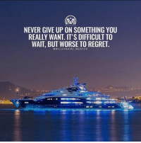Remember why you started. Don't give up, find a way. ✔️ millionairementor: NEVER GIVE UP ON SOMETHING YOU  REALLY WANT. IT'S DIFFICULT TO  WAIT, BUT WORSE TO REGRET  @MILLIONAIRE MENTOR Remember why you started. Don't give up, find a way. ✔️ millionairementor