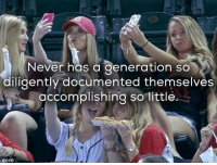 Memes, 🤖, and Documentation: Never has a generation so  diligently documented themselves  accomplishing so little  Com