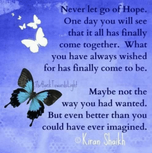 Never Let Go of Hope O...