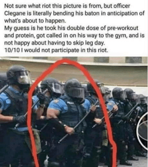 Never mess with officer Clegane: Never mess with officer Clegane