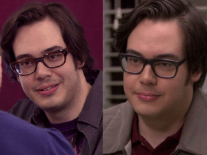 Never noticed that Nick the IT guy is the same guy who tells Pam about graphic design school: Never noticed that Nick the IT guy is the same guy who tells Pam about graphic design school