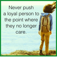 Memes, 🤖, and  the Point: Never push  a loyal person to  the point where  they no longer  Care