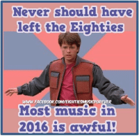 Dank, Music, and Never: Never should have  left the Eighties  Most music in  2016 is awful!