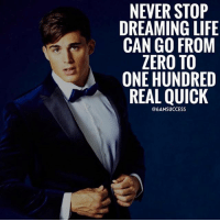 Adele, Beyonce, and Friends: NEVER STOP  DREAMING LIFE  CAN GO FROM  ZERO TO  ONE HUNDRED  REAL QUICK  @6AMSUCCESS Tag your friends 👇🏼 6amsucces true words - keep working hard 👊🏼 ➖➖➖➖➖➖➖➖➖➖➖➖➖➖➖ @leomessi @kimkardashian @jlo @adele @ddlovato @katyperry @danbilzerian @kevinhart4real @thenotoriousmma @justintimberlake @taylorswift @beyonce @davidbeckham @selenagomez @therock @thegoodquote @instagram @champagnepapi @cristiano