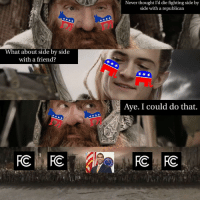 "<p>A common enemy via /r/MemeEconomy <a href=""http://ift.tt/2mUikzk"">http://ift.tt/2mUikzk</a></p>: Never thought I'd die fighting side by  side with a republican  What about side by side  with a friend?  Aye. I could do that <p>A common enemy via /r/MemeEconomy <a href=""http://ift.tt/2mUikzk"">http://ift.tt/2mUikzk</a></p>"