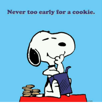 Memes, 🤖, and Cookie: Never too early for a cookie.  OPNTS