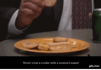 Cookies 101 - Kevin Malone: Never trust a cookie with a women's name!  gifs com Cookies 101 - Kevin Malone