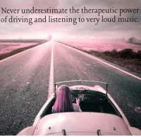 Driving, Memes, and Music: Never underestimate the therapeutic power  of driving and listening to very loud music True! Tickled Pink