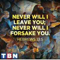 When Jesus is your foundation, you never need to worry!: NEVER WILL I  LEAVE YOUR  NEVER WILL I  FORSAKE YOU  HEBREWS 13:5  T BN When Jesus is your foundation, you never need to worry!