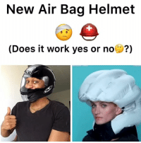 Memes, Videos, and Work: New Air Bag Helmet  (Does it work yes or no( ?) You guys have to watch this 😂😂 - - For more videos follow me @kmoorethegoat @kmoorethegoat