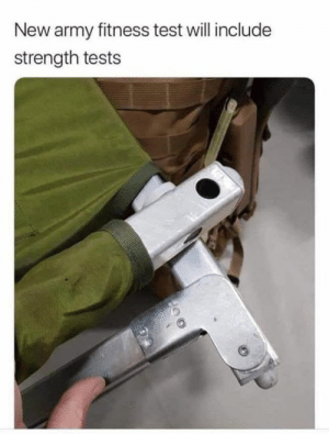 Memes, Army, and Test: New army fitness test will include  strength tests