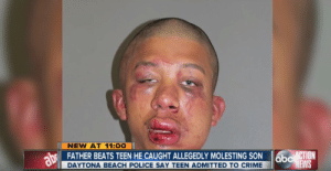 Crime, Dad, and Homeless: NEW AT 11:00  FATHER BEATS TEEN HE CAUGHT ALLEGEDLY MOLESTING SON 6bc ACTION  EWS  DAYTONA BEACH POLICE SAY TEEN ADMITTED TO CRIME oppa-homeless-style:  homotalian:  kidlazer:   florida dad ur doing great sweetie  k;sdl;ksdlsdk fuck it up!!!   BEAT👏ALL👏PEDOPHILES👏