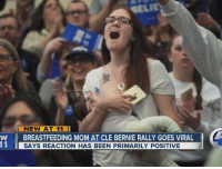 """""""There is no, 'I'm feeding you in 10 minutes.' It's, 'I'm feeding you right here, right now, or you're screaming.""""   A photo of a mother breastfeeding at Bernie Sanders' rally in Cleveland is going viral — and sparking a surprising reaction. READ HER STORY: http://bit.ly/218ch1Y: NEW AT 11  W BREASTFEEDING MOM AT CLE BERNIE RALLY GOES VIRAL  11 SAYS REACTION HAS BEEN PRIMARILY POSITIVE """"There is no, 'I'm feeding you in 10 minutes.' It's, 'I'm feeding you right here, right now, or you're screaming.""""   A photo of a mother breastfeeding at Bernie Sanders' rally in Cleveland is going viral — and sparking a surprising reaction. READ HER STORY: http://bit.ly/218ch1Y"""