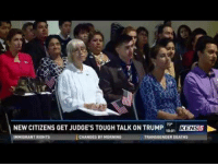 """Transgender, Tumblr, and Blog: NEW CITIZENS GET JUDGE'S TOUGH TALK ON TRUMP 1  73  10:01  KENSS  IMMIORANT RIGHTS  CHANGES BY MORNING  TRANSGENDER DEATHS <p><a href=""""http://memehumor.tumblr.com/post/153501905248/texas-judge-tell-new-citizens-that-whether-they"""" class=""""tumblr_blog"""">memehumor</a>:</p>  <blockquote><p>Texas judge tell new citizens that whether they voted for trump or not that he's their president now. Pretty sure you have to be a citizen to vote.</p></blockquote>"""