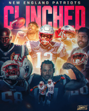 11 straight playoff appearances for the @Patriots! #GoPats https://t.co/p6QedRwsmo: NEW ENGLAND PATRIOTS  CHINCHED  PATRIOTS  PATRIOTS  PATRIOTS  18  PATBIOTS  CO 11 straight playoff appearances for the @Patriots! #GoPats https://t.co/p6QedRwsmo