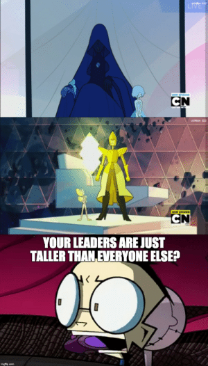 wedway:  Remember how Rebecca Sugar was a huge Invader Zim dweeb when she was 15? : NEW EPESOD   YOUR LEADERS AREJUST  TALLER THAN EVERYONE ELSE? wedway:  Remember how Rebecca Sugar was a huge Invader Zim dweeb when she was 15?