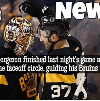 Memes, National Hockey League (NHL), and Game: New  ergeron finished last night's game a  he faceoff circle, guiding his Bruins  37 Winning just a single faceoff in the NHL is extremely difficult. Winning 17 straight draws... unheard of! Way to go Patrice Bergeron NHLDiscussion Bruins