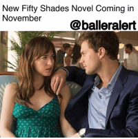 """Books, Fifty Shades of Grey, and Head: New Fifty Shades Novel Coming in  November@balleralert New Fifty Shades Novel Coming in November-blogged by @baetoven ⠀⠀⠀⠀⠀⠀⠀ ⠀⠀⠀⠀⠀⠀⠀ In 2015, Vintage Books released """"Grey: Fifty Shades of Grey as Told by Christian,"""" the first book in the Fifty Shades series told from the perspective of the leading male character, Christian. This year, ELJames is releasing a second book, """"Darker: Fifty Shades Darker as Told by Christian,"""" which will also chronicle details through Christian's point of view. ⠀⠀⠀⠀⠀⠀⠀ ⠀⠀⠀⠀⠀⠀⠀ """"The inside of Christian Grey's head is a fascinating place to be,"""" James said in a statement. """"In Grey we got the first glimpse of what makes Christian tick, but in Darker we go deeper, into his most painful memories and the encounters that made him the damaged, demanding man Ana falls in love with. Writing this novel has been a journey of discovery, and I hope readers will find what I've learned as compelling as I did. Finally, it's always a joy to work with the great team at Vintage."""" ⠀⠀⠀⠀⠀⠀⠀ ⠀⠀⠀⠀⠀⠀⠀ """"Darker: 50 Shades Darker as Told by Christian"""" will be available on Nov. 28."""